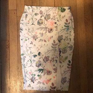 Asos Petite Floral Midi Skirt